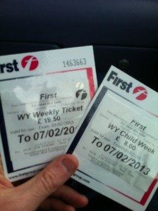 Dad and Lad weekly bus tickets